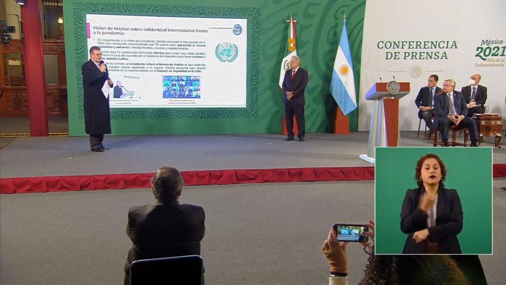Conferencia matutina del día de hoy en la que participó el canciller Marcelo Ebrard.