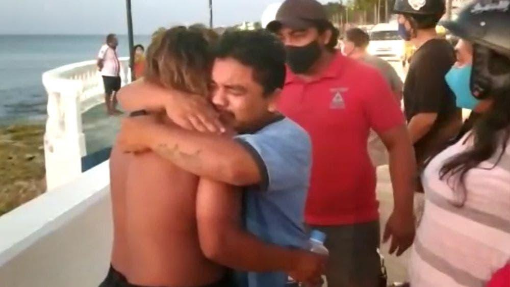 Video: Rescatan a pescador de Cozumel extraviado en altamar
