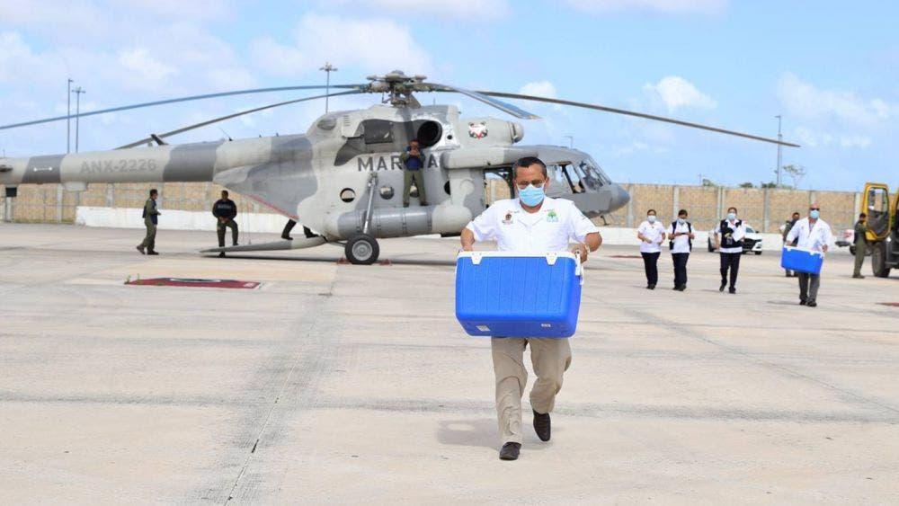 Llegó a Quintana Roo el tercer embarque de la vacuna Pfizer para el personal de salud de primera línea contra la covid-19