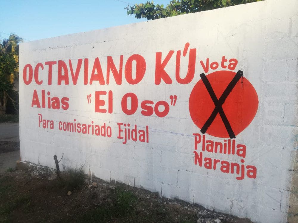 Pide el voto aspirante a comisario ejidal de Kantunilkín.