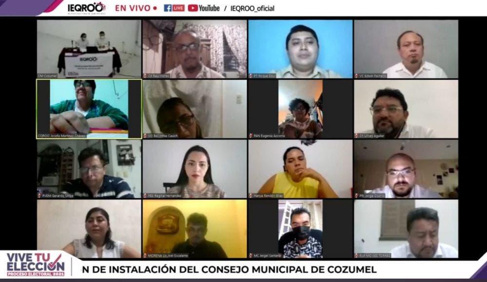 En Cozumel quedó integrado el Consejo Municipal Electoral.