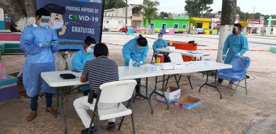 Aplican 500 pruebas rápidas contra Covid-19 en José María Morelos.