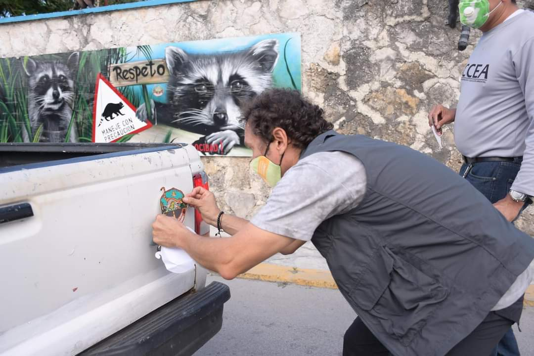 "En Cozumel lanzan programa ""Maneja con precaución y salva fauna silvestre."