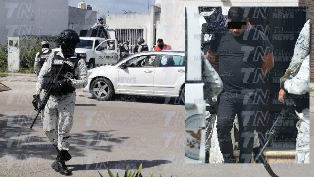 Cateo en Cozumel deja un detenido y decomisos de armas, autos y drogas