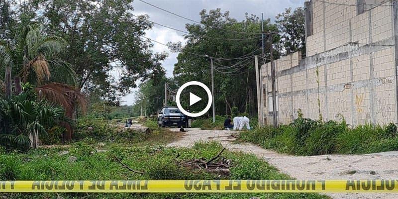 Video: Hallan a un ejecutado en la colonia Tres Marías de Cancún.
