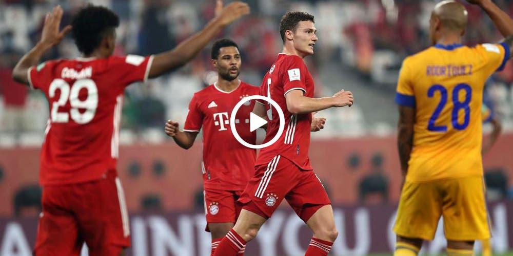 Gol del Bayern contra Tigres en el Mundial de Clubes