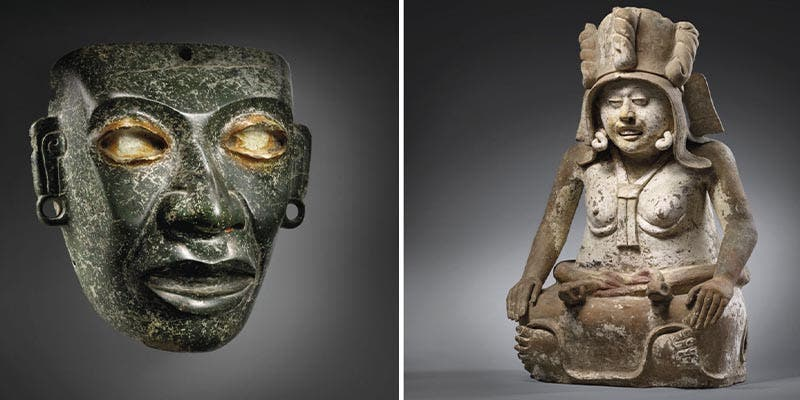 México pide detener subasta en Francia por piezas prehispánicas