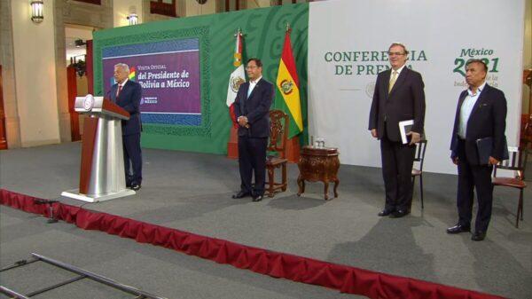 Recibe AMLO a Luis Arce, presidente de Bolivia