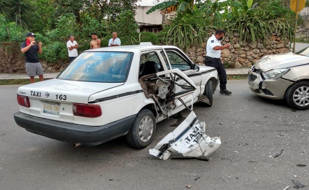 Cuantiosos daños en accidente entre taxista y particular en FCP