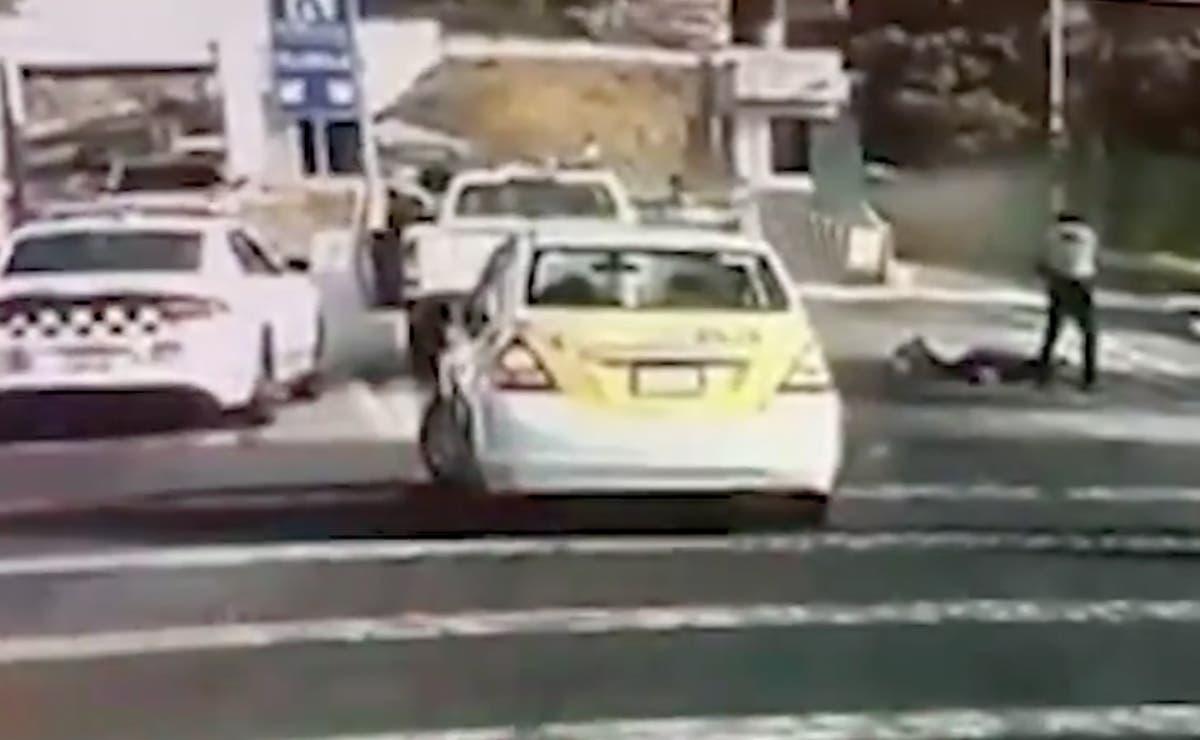 Video: Acribilla Guardia Nacional a presunto ladrón de autos