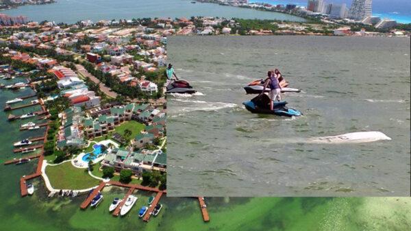 Cae avioneta en Cancún zona hotelera