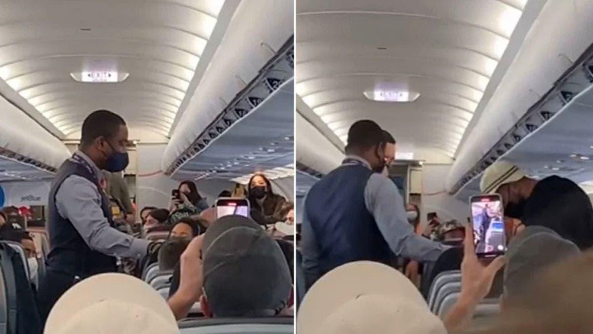 Lo bajan de avión por no querer usar cubrebocas
