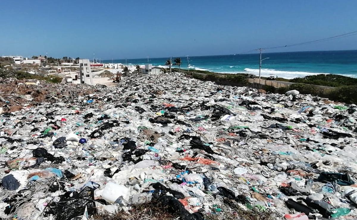Isla Mujeres se ahoga en 6 mil toneladas de basura