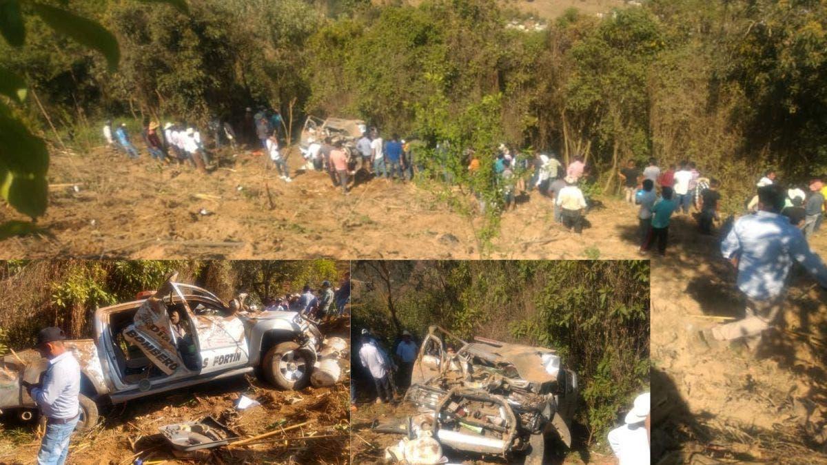 Bomberos sufren accidente en Veracruz; un muerto y 7 lesionados