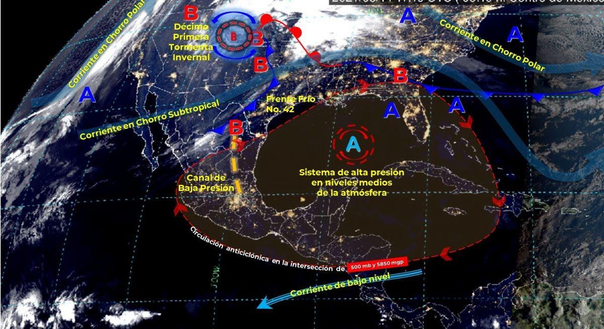 Se prevé lluvias aisladas para Quintana Roo para hoy domingo.