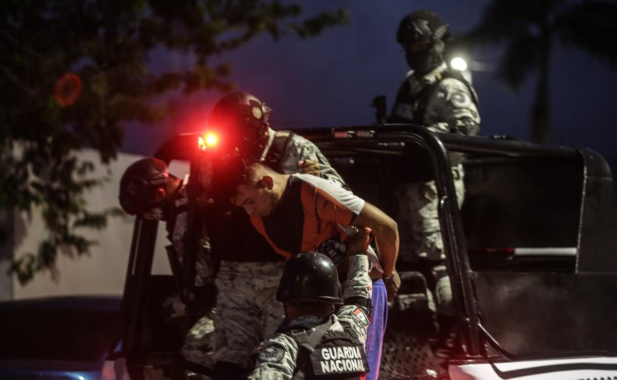 Guardia Nacional catea inmueble en Cozumel, detiene a dos