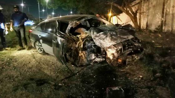 Conductor en estado de ebriedad entre la vida y la muerte tras choque en Mérida