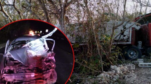 Fuerte choque en la vía corta Mérida-Chetumal deja un muerto