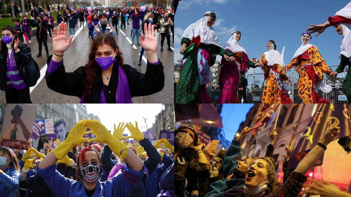 Exigen millones de mujeres igualdad y condenan la violencia