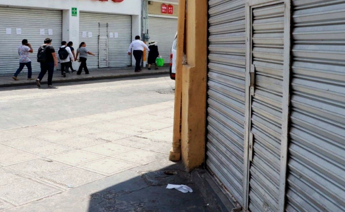 Concluye febrero con negocios cerrados en el Centro Histórico de Mérida por crisis económica
