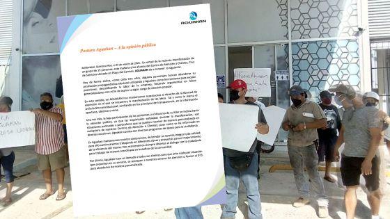 Atribuye Aguakan manifestación a intereses políticos