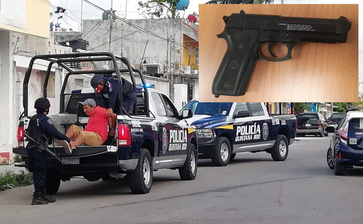 Detienen en Cozumel a un hombre con un arma de fuego