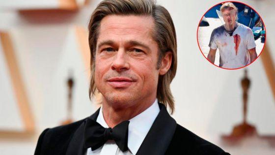 Encuentran bañado de sangre y con heridas a Brad Pitt