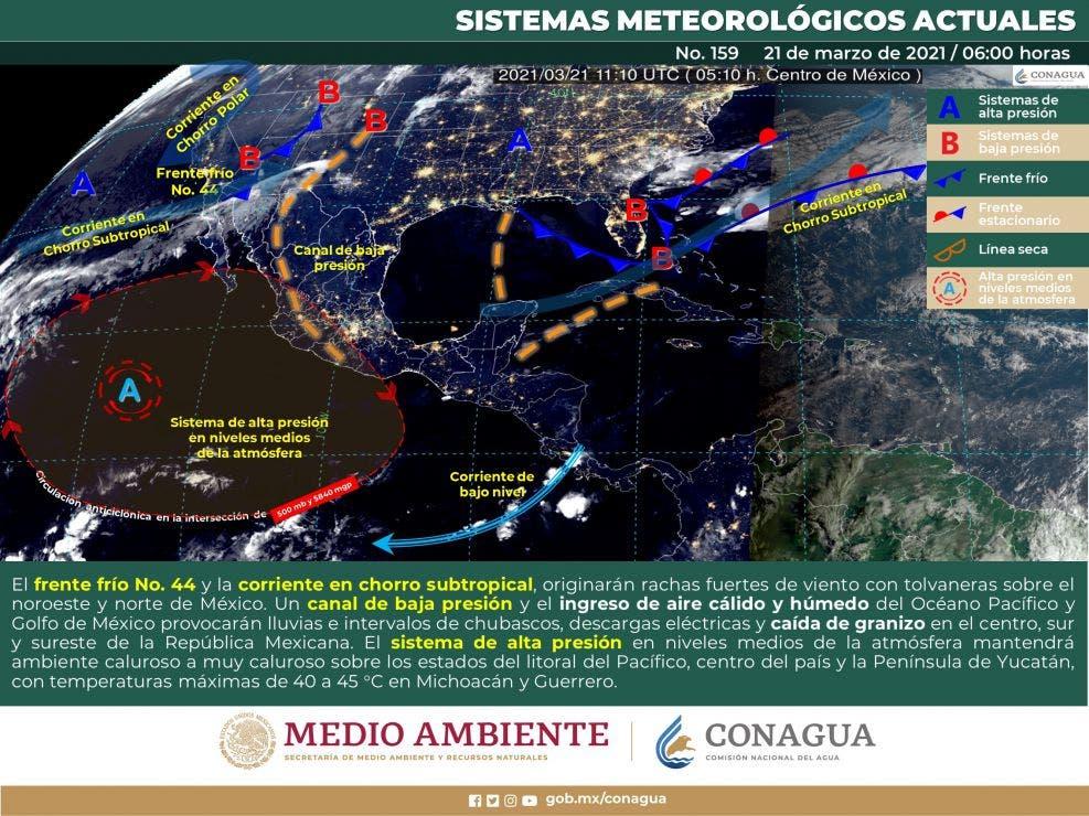 Pronóstico del tiempo para hoy domingo 21 de marzo en Quintana Roo.