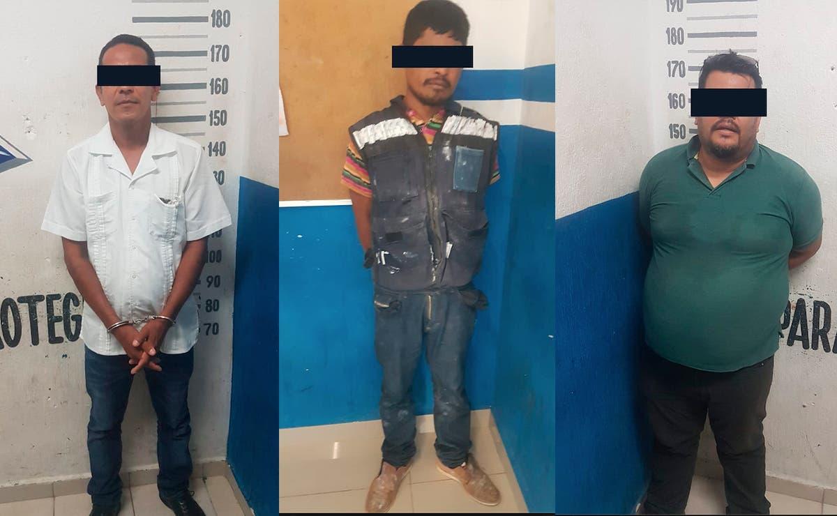 Detienen a tres presuntos extorsionadores en Playa Del Carmen