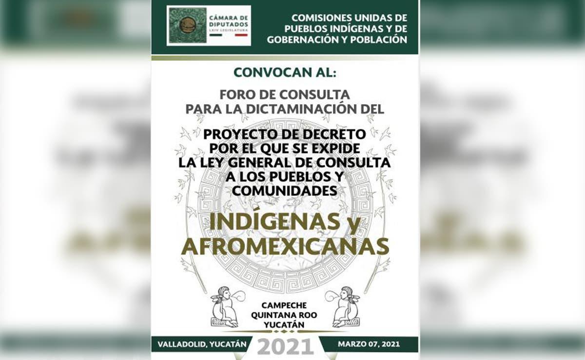 Participarán mayas en foro convocado por la Cámara de Diputados
