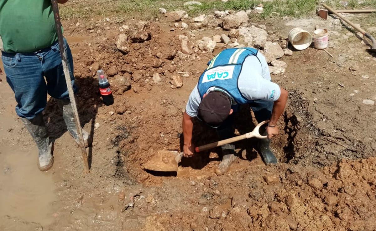 Repara CAPA fugas de agua en Ignacio Zaragoza