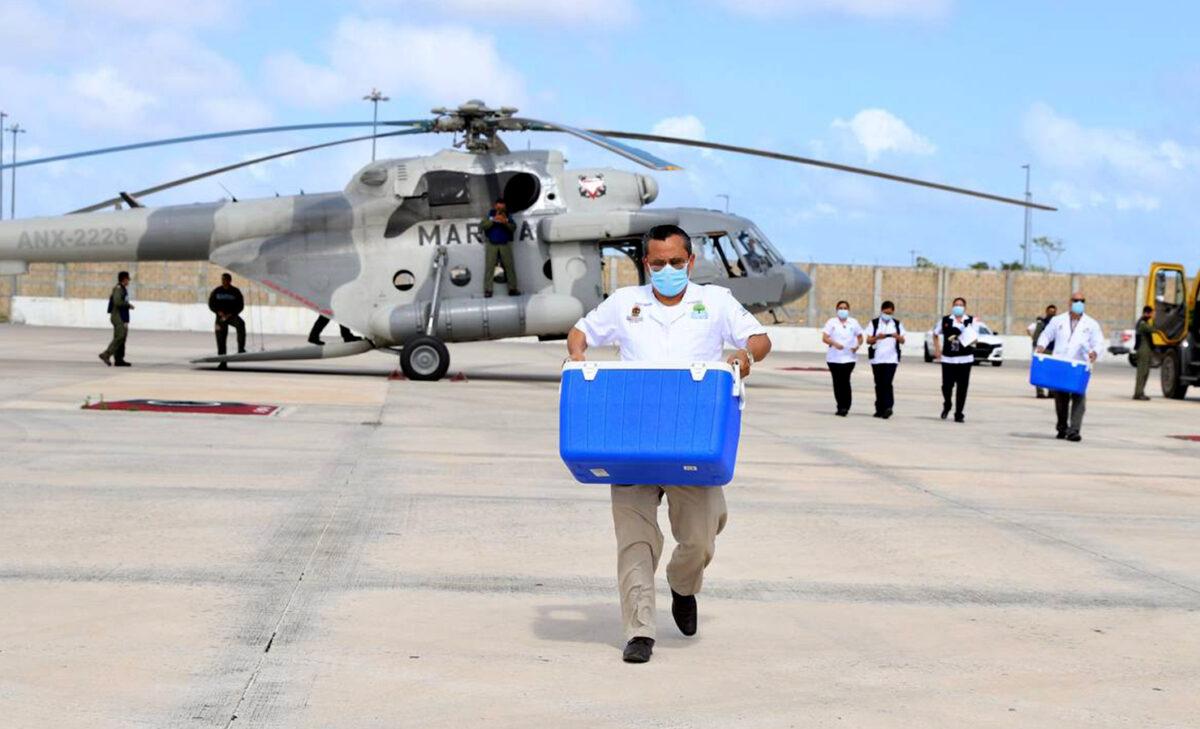 Llegaría otro embarque de vacunas covid-19 para Cancún