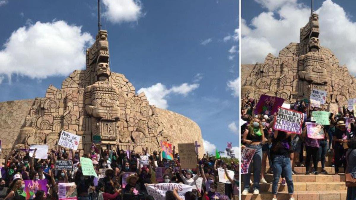 En Yucatán, marchan para exigir justicia por feminicidios