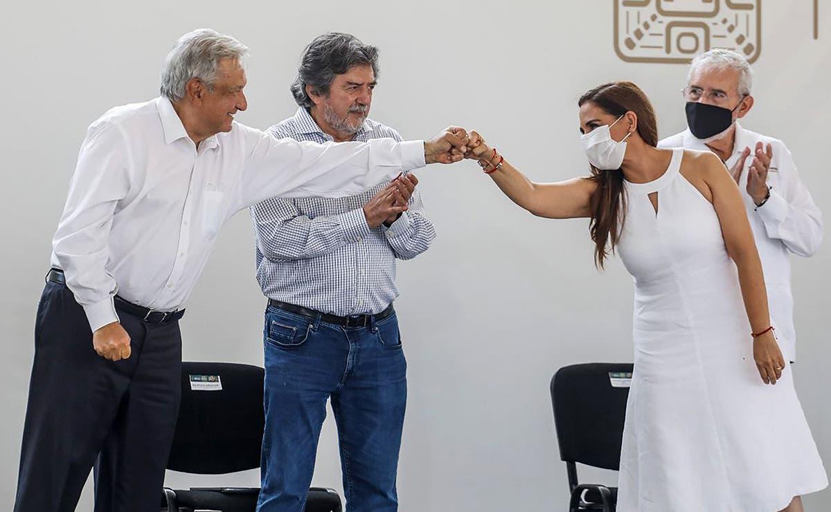 AMLO y gobierno de Cancún dan banderazo de inicio de obras del Tren Maya