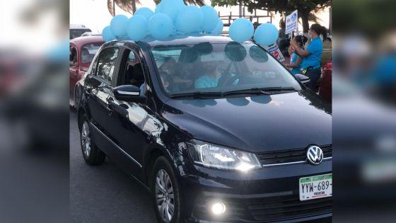 "Realizan grupos pro-vida ""Mega Caravana"" vehicular en Chetumal"