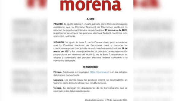 Reajusta Morena calendario para candidaturas