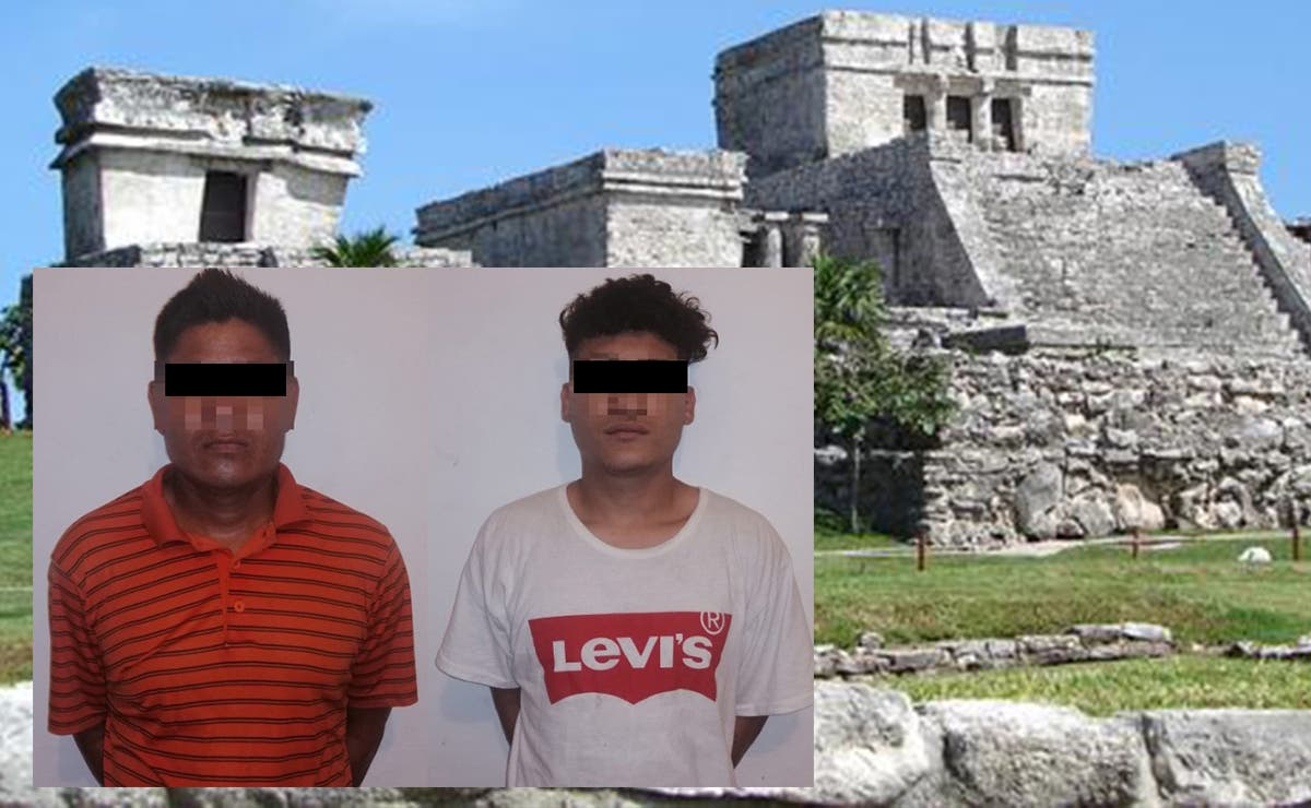 Detiene Policía a dos presuntos narcomenudistas en zona arqueológica de Tulum