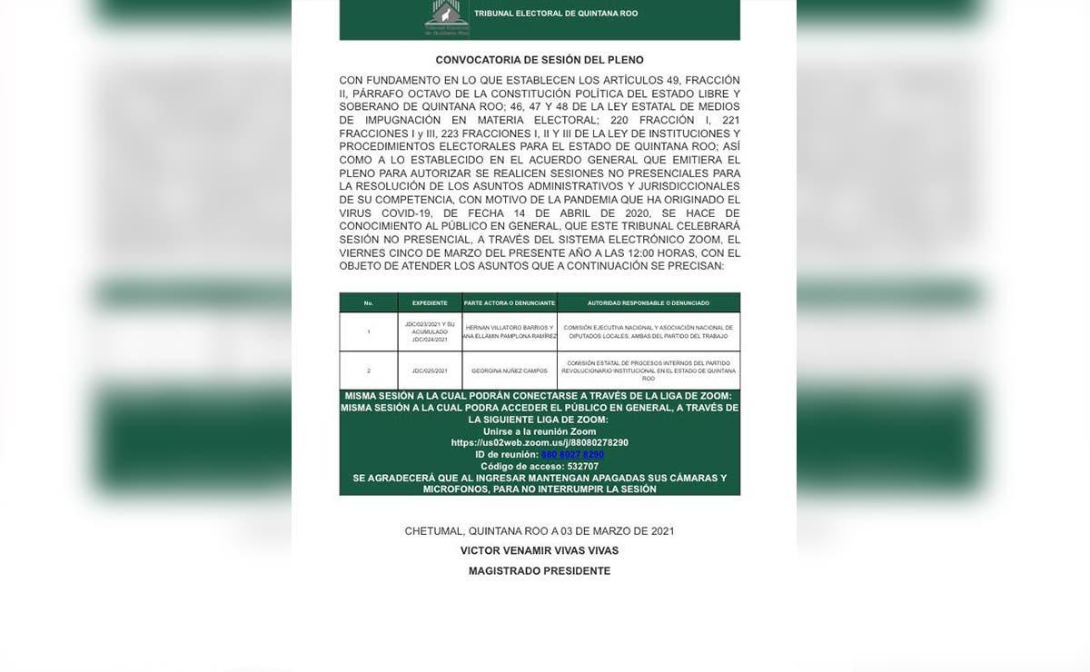 Resolverá el TEQROO recurso presentado por diputados petistas