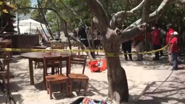 Palapa mata a turista en Isla Mujeres