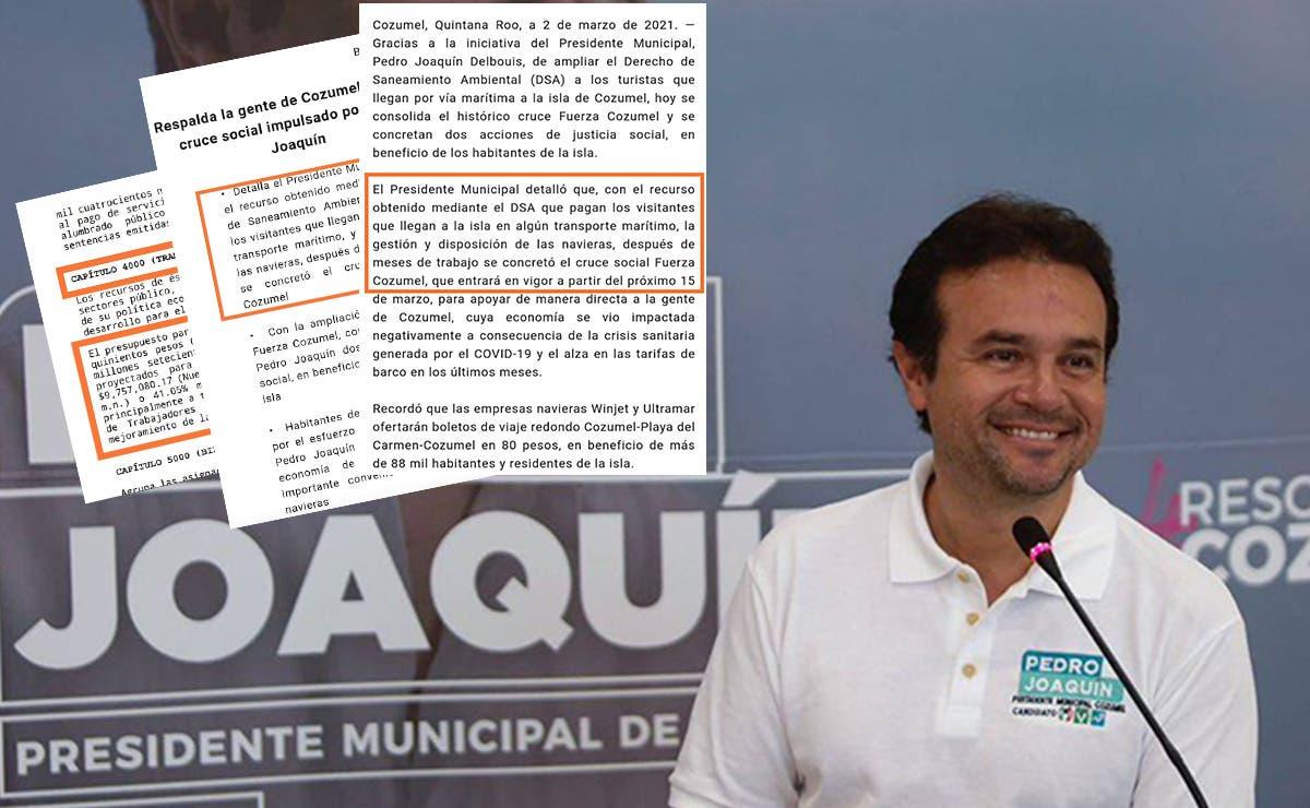 Transa Pedro Joaquín recursos públicos para su programa electorero