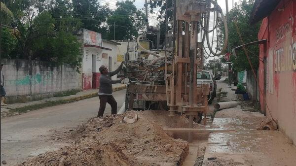6 Pozos de absorción se construyen en Lázaro Cárdenas