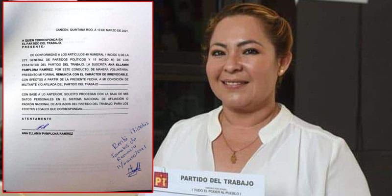 Renuncia la diputada Ana Pamplona al PT, de donde ya la echaron.