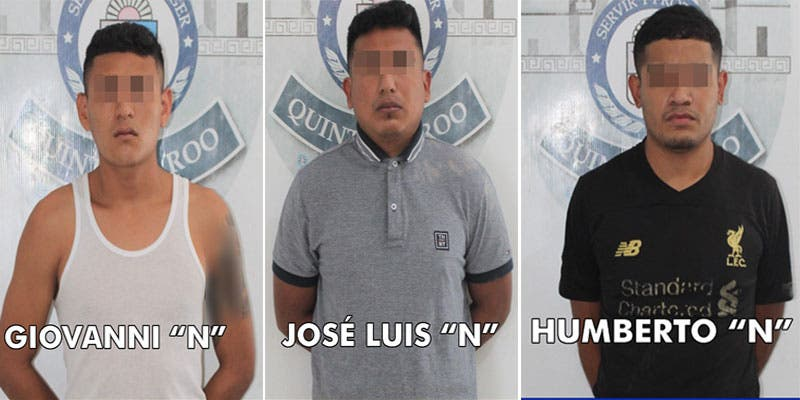 Detienen con droga a presuntos robacarros en Cancún.