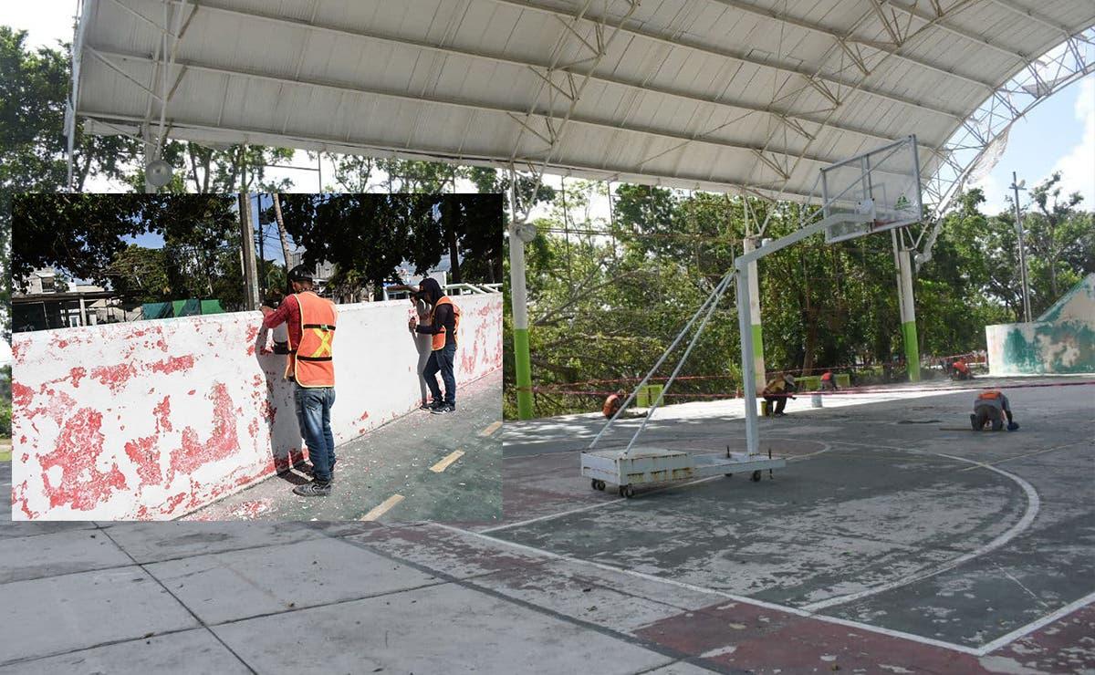 Gobierno de Puerto Morelos rehabilita domos deportivos