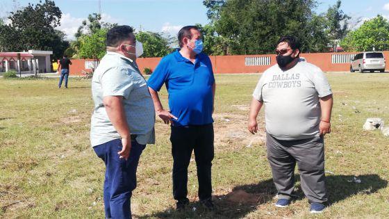 Construirán campo a cambio de predio para Mercado Municipal en Kantunilkín.