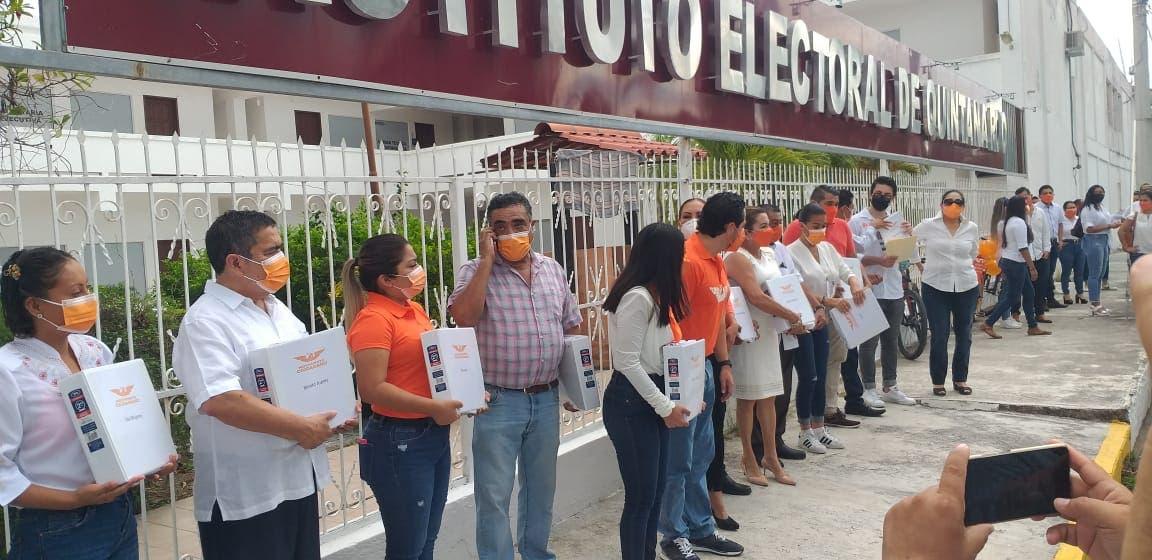 Registra MC a sus candidatos a presidentes municipales.