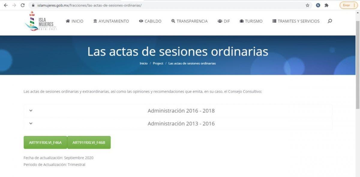 Carece de transparencia la administración de Juan Carrillo en Islas Mujeres.