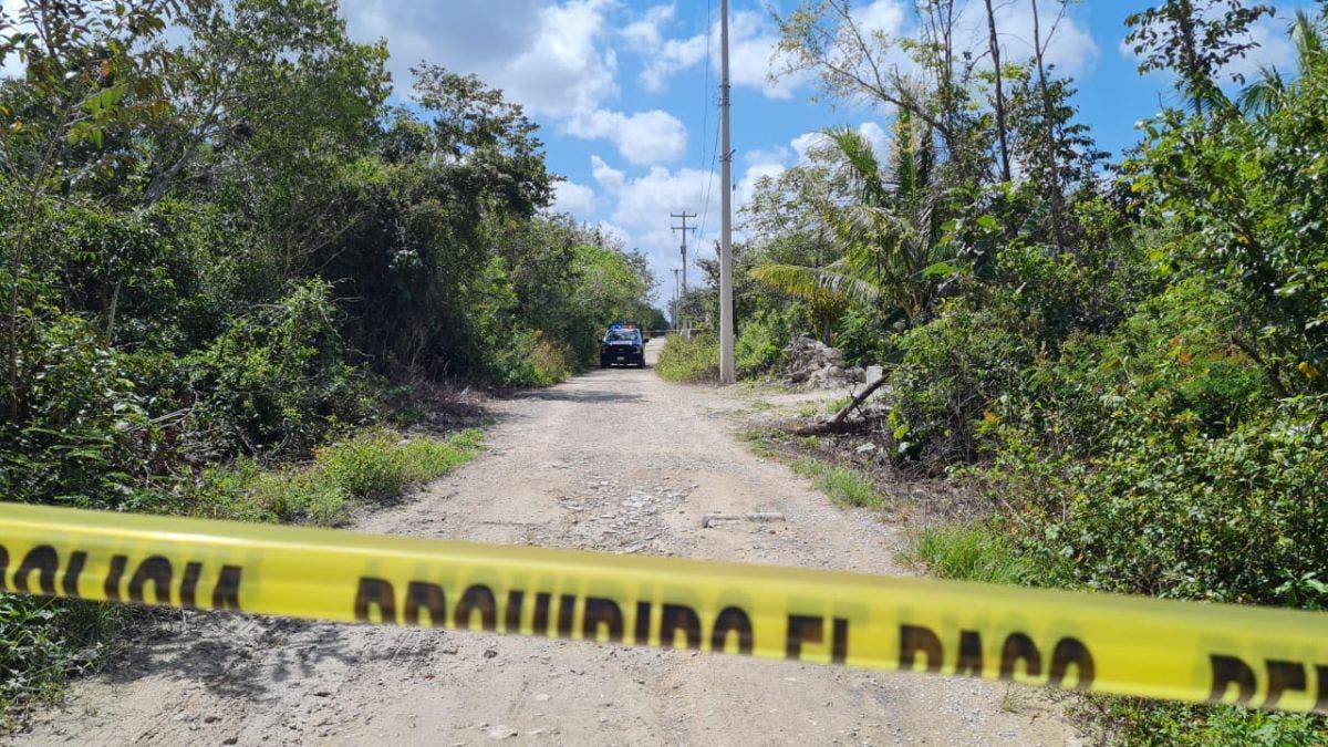Dejan un cuerpo embolsado en la colonia Amistad de Cancún.
