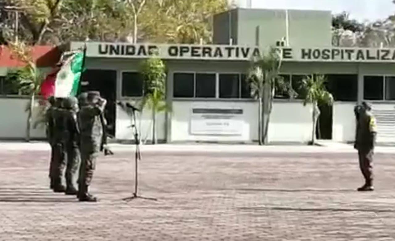 Hay cambio de mando en la Guarnición Militar de Cancún.
