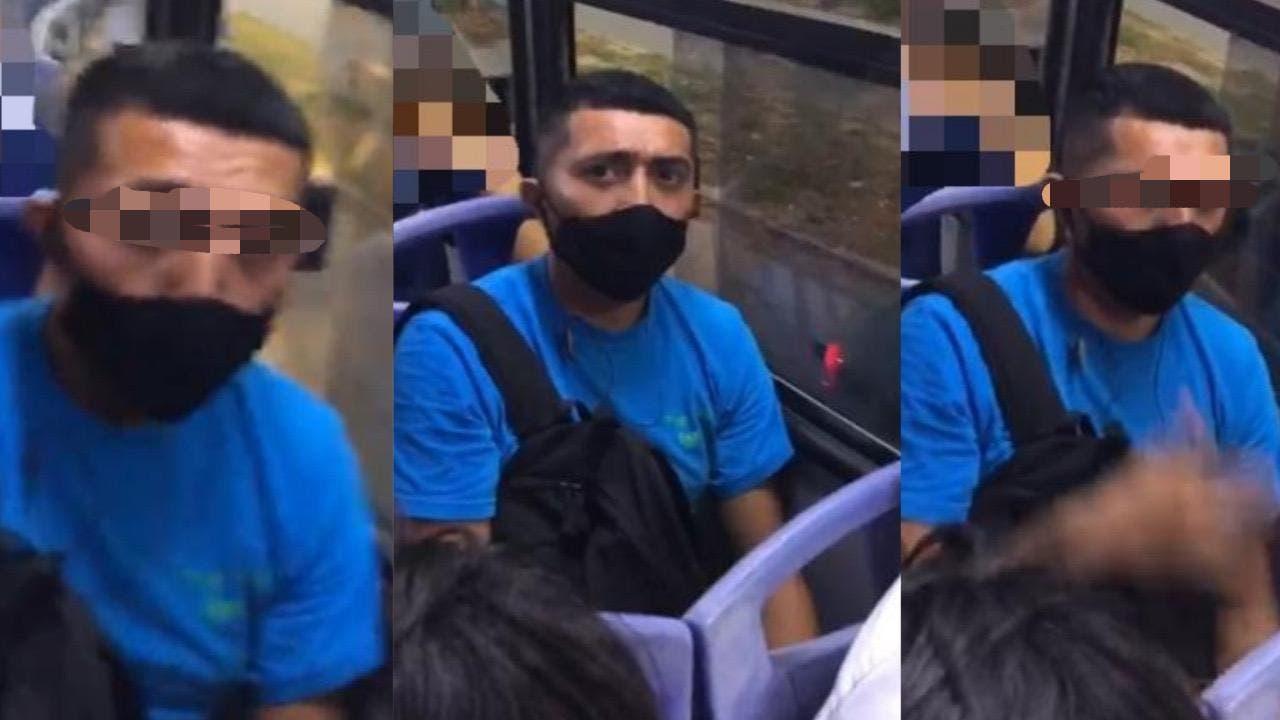 Cancún: ¡Cuidado! Depravado s3xual acosa mujeres en el transporte público
